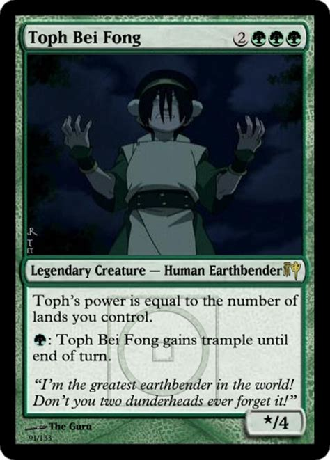Magic Card Meme - toph bei fong mtg card fake ccg cards know your meme