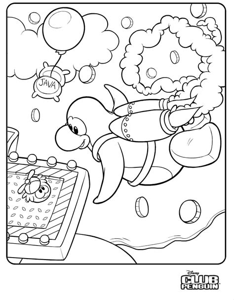 New Club Penguin Jetpack Adventure Coloring Page Ck716 Club Penguin Coloring Pages