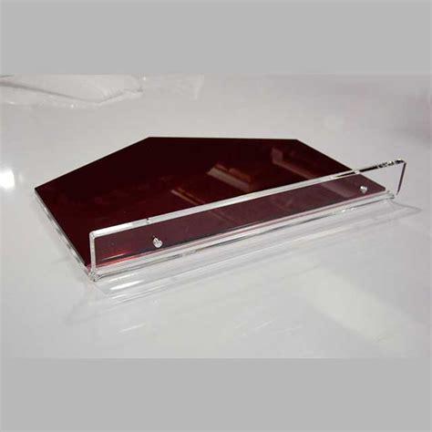Mensola Plexiglass - mensola plexiglass termopiegato bicolore parruchiere