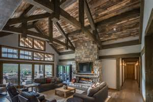 Pictures Of Interiors Of Homes Timber Frame Timber Frame Home Interiors New Energy Works