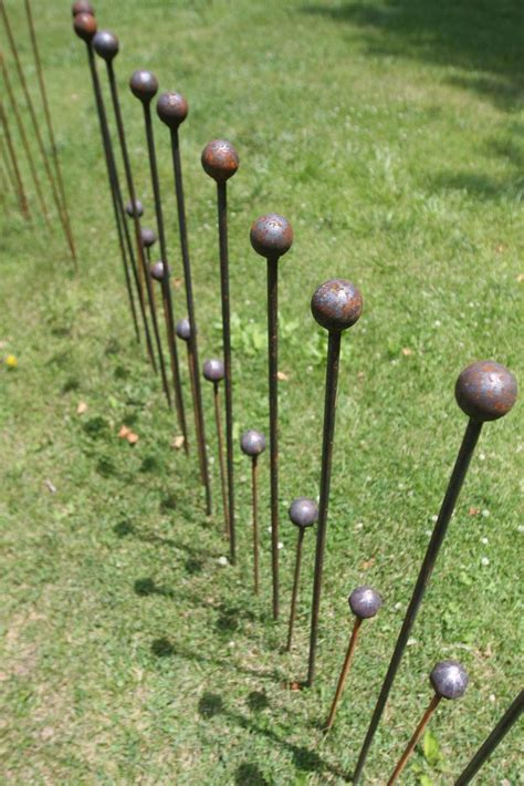 4 foot ball stake garden stake rustic wedding path