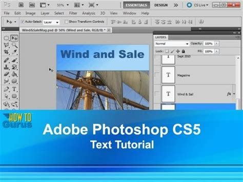 tutorial dasar photoshop cs5 pdf adobe photoshop cs5 text tutorial how to add and edit