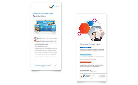 rack card template microsoft word free rack card templates ready made designs