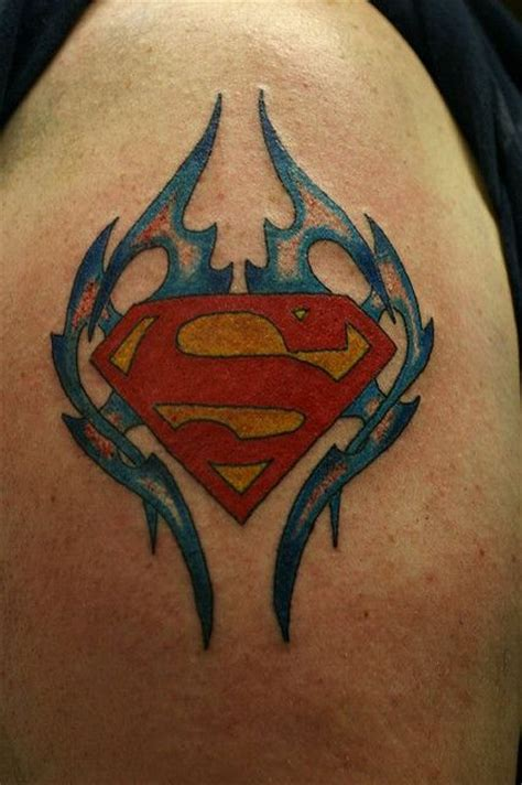 batman superman tattoo 25 best superman tattoos ideas on batman
