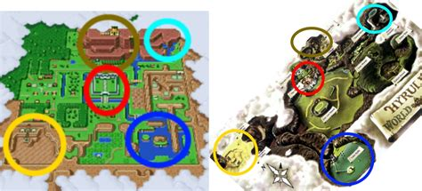 legend of zelda map comparison hyrule a geography and cartography zelda universe