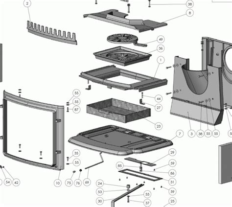 Spare Part Panther exploded diagram for morso panther 2140