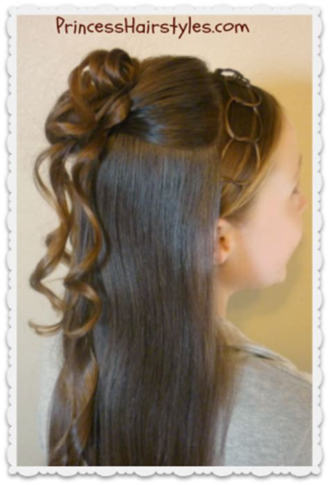 occasion hairstyles down formal half updo hairstyle cascading curls and chains