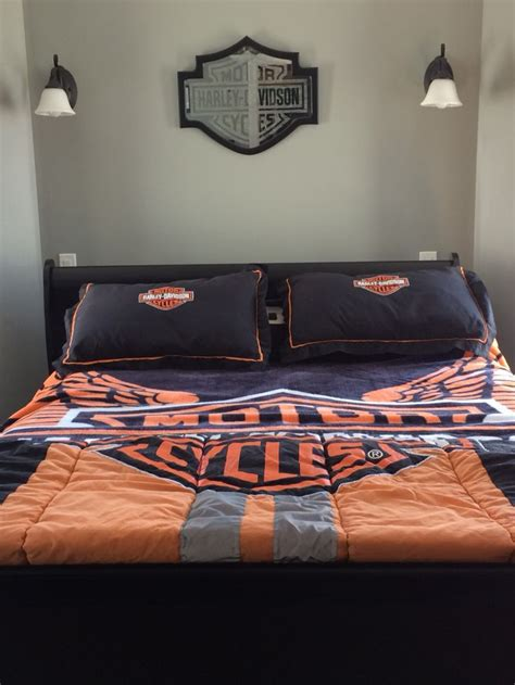 harley davidson bedroom 60 best biker home garage decor images on pinterest