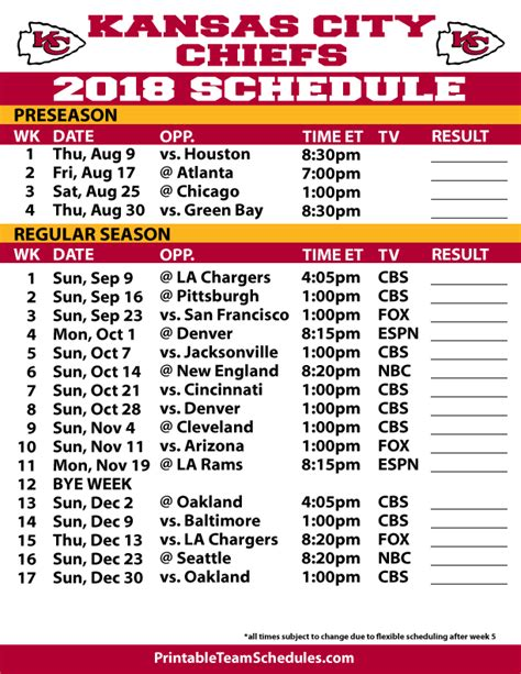 printable nfl team schedule nfl schedule printer friendly autos post