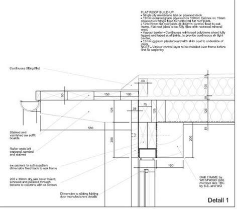 flat roof detail section flat roof details housing renovation flat roof