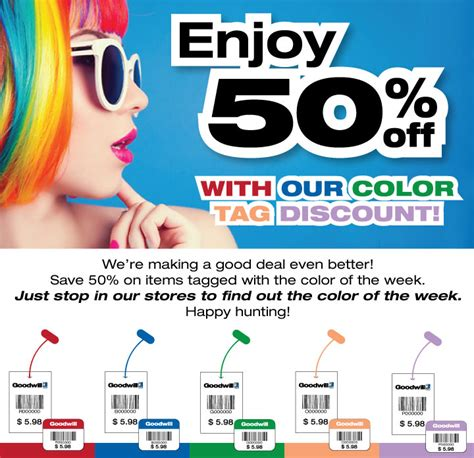 goodwill color tags color of the week sale 50 goodwill industries suncoast