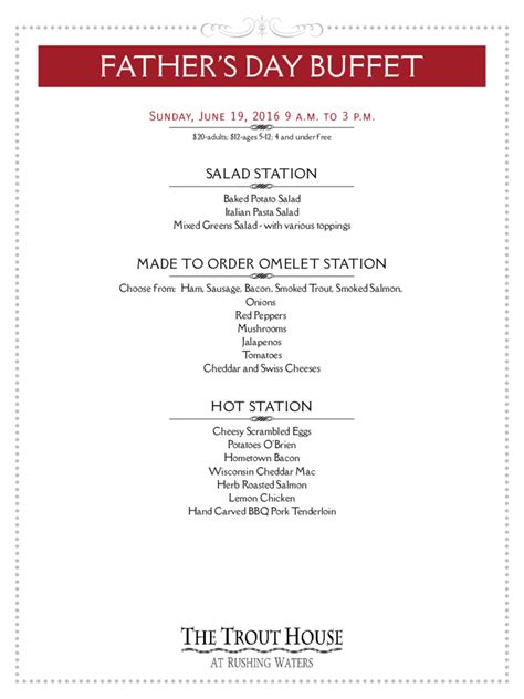 Father S Day Menu Template 5 Free Templates In Pdf Word Excel Download S Day Menu Template