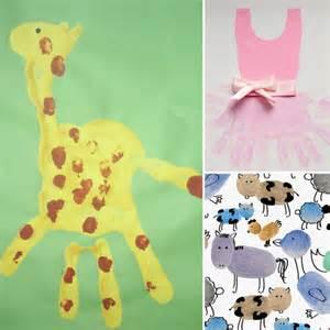 Handprint and footprint crafts popsugar moms