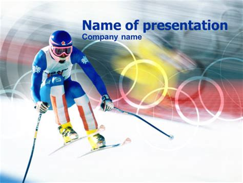 Winter Olympic Games Presentation Template For Powerpoint Olympic Ppt