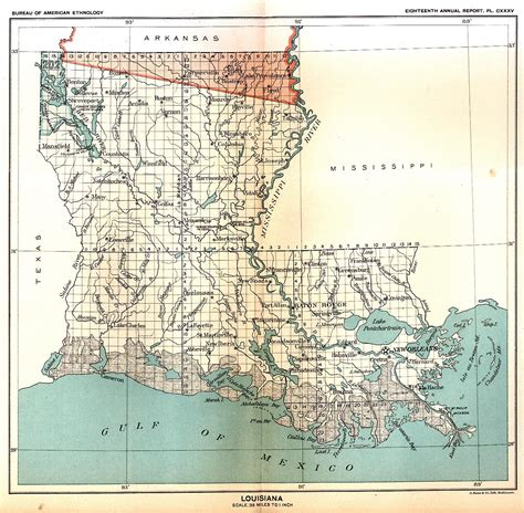 louisiana digital map library indian land cessions in the u s louisiana map 28