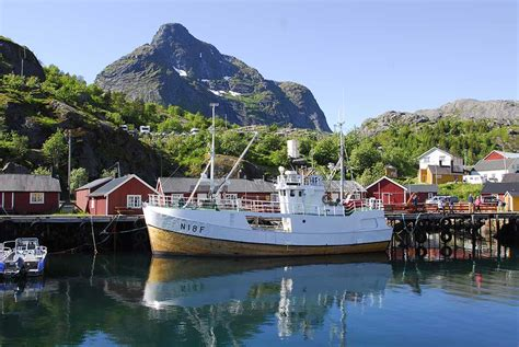 norwegian fishing boat engine seabourn sojourn s passengers are in awe on a shore