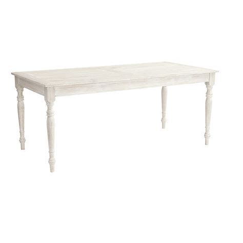 Whitewashed Dining Table Teak Ceylon Outdoor Rectangular Dining Table European Inspired Home Furnishings Ballard