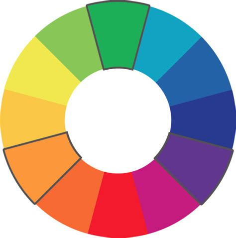 triadic color scheme color theory for company branding