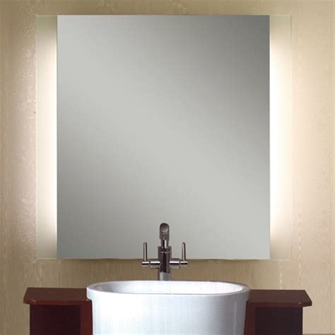 lighted mirrors for bathrooms modern led vertical sides illuminated mirror contemporary