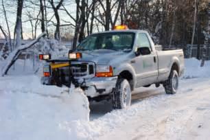 turn diesel truck snow plow