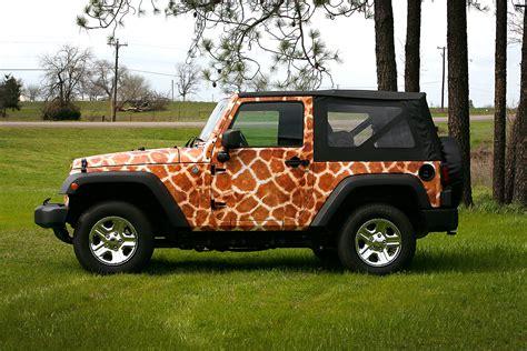 Jeep Wrangler Wraps Giraffe Jeep Wrangler Wrap Car Wrap City