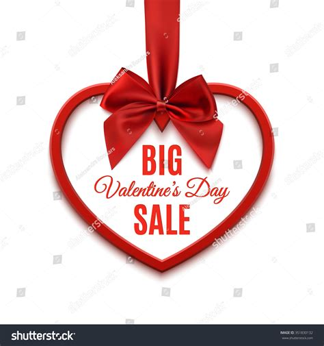 big valentines big valentines day sale poster template stock vector