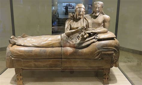 Sarcophagus Of Reclining by Funerary Rites