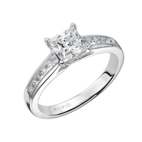 artcarved style 31 v410ecw classic princess cut channel