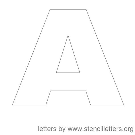 printable alphabet letters stencils large block letters template learnhowtoloseweight net
