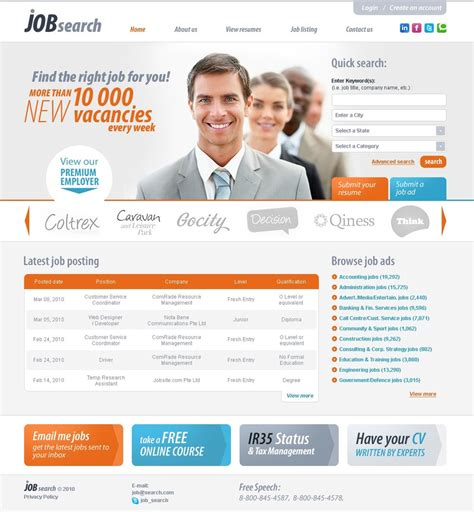 html themes for job portal job portal website template 28883