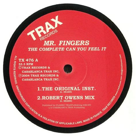 Can You Feel It mr fingers the complete can you feel it reissue vinyl at
