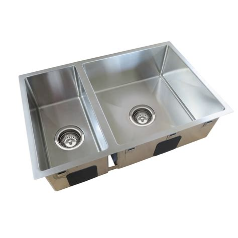 Bunnings Kitchen Sinks Everhard Squareline Plus One And Half Bowl Sink Bunnings Warehouse