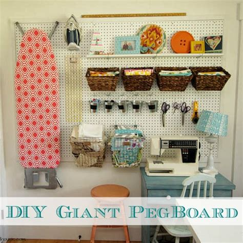 Armoire With Hanging Space How To Install A Diy Giant Pegboard Wall Craft Room