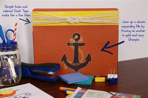 Nautical Desk Accessories by Nautical Inspiration Desk Makeover Shoplet