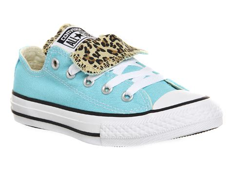 office snow leopard converse converse double tongue low youth peacock leopard unisex