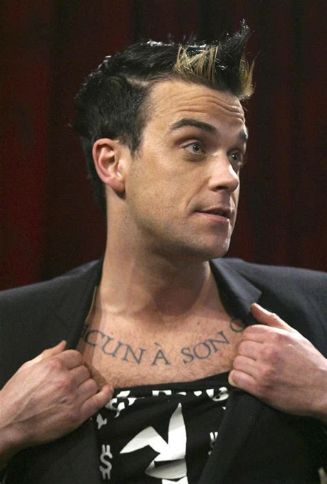 carson daly tattoos robbie williams opens up about fears as he talks