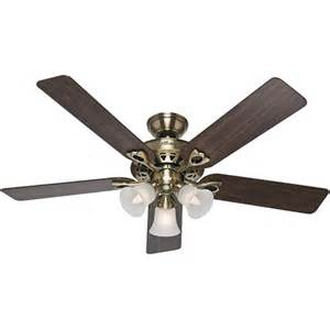 fans 52 quot sontera ceiling fan antique brass