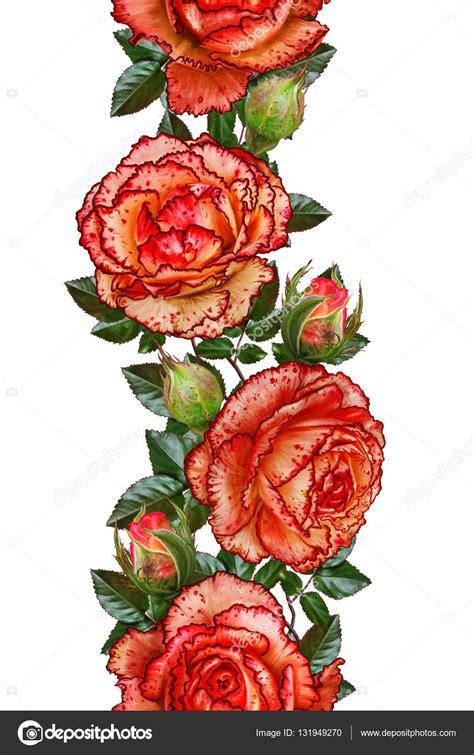 cenefas flores cenefa floral vertical patr 243 n fisuras guirnaldas de