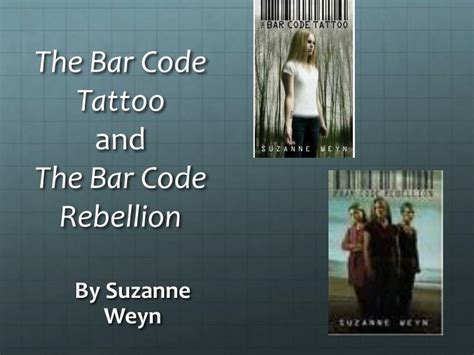 barcode tattoo book series ppt science fiction literature powerpoint presentation