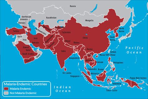 middle east malaria map asia travel vaccines and malaria prophylaxis