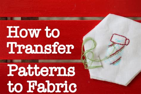 How To Transfer Pictures To Fabric For Quilting by Stitching How To Transfer A Pattern The Crafty Mummy