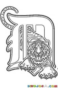 Detroit Tigers Coloring Pages detroit tigers logo coloring page dibujos para pintar