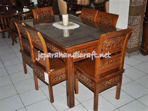 Meja Makan Kartini Ukir jual kursi makan jati kartini ukir