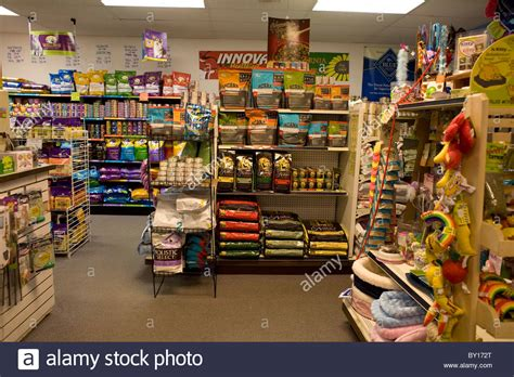 pet stores in ma that sell puppies pet store interior stocked with food and toys for animals stock photo royalty free