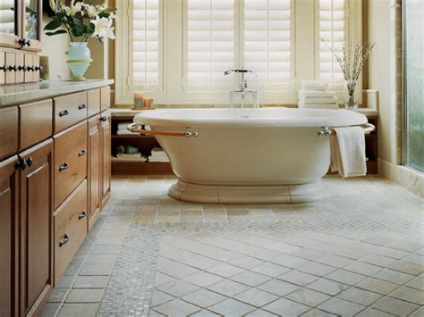 floor ideas for bathroom master bath stone floor mosaic traditional bathroom