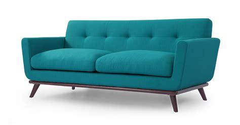 turquoise loveseat jackie mid century modern classic loveseat turquoise