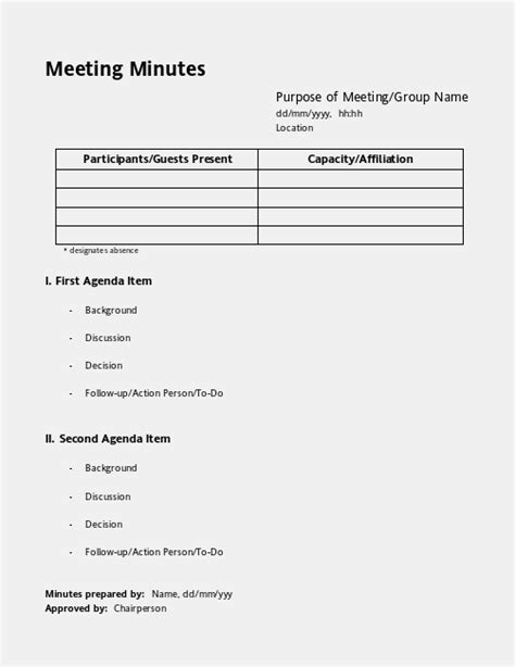 meeting minutes template meeting minutes meeting