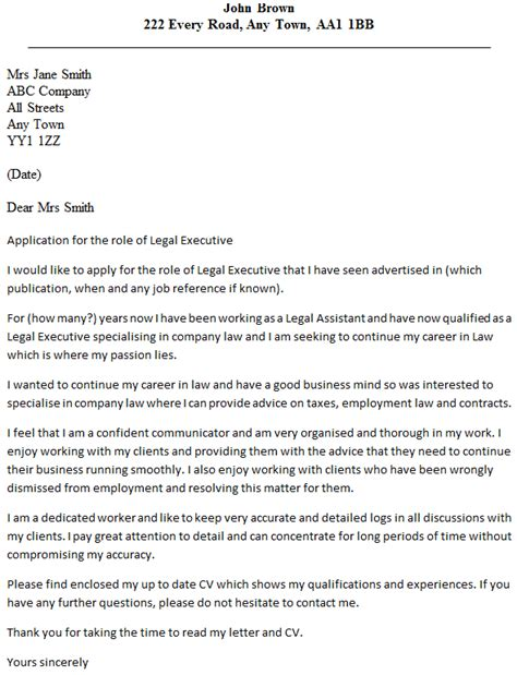 legal executive cover letter exle icover org uk