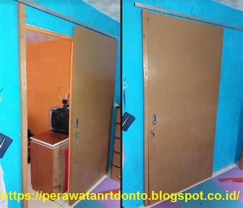 Pasang Kunci Pintu cara pasang pintu geser rel sliding rumah sendiri alat
