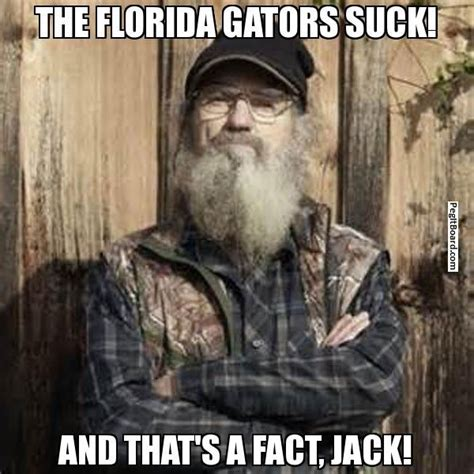 Florida Gator Memes - the florida gators suck and that i bleed red and black